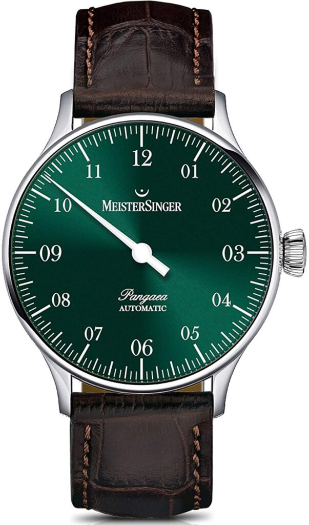 Meistersinger Pangea Day Date, Green Watch Face, Automatic Watch, Leather Watch, Men's Dress Watches