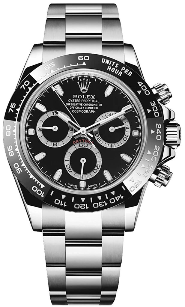 Rolex Cosmograph Daytona, Stainless-steel Watch, Black Dial, Swiss Made Watch