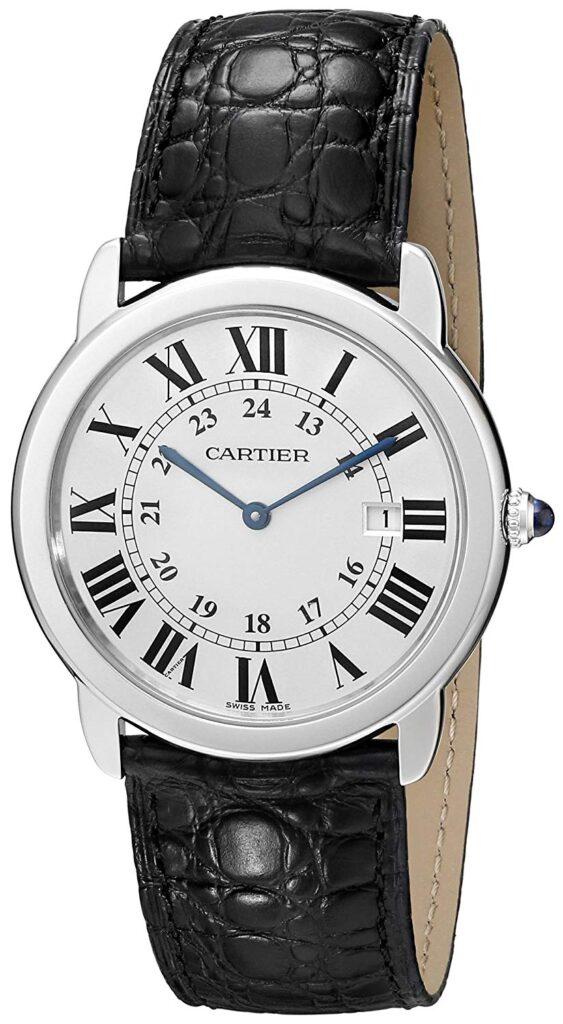 Cartier Ronde de Solo, Men's Dress Watches, Leather Watch, Swiss Watch, Luxury Watch