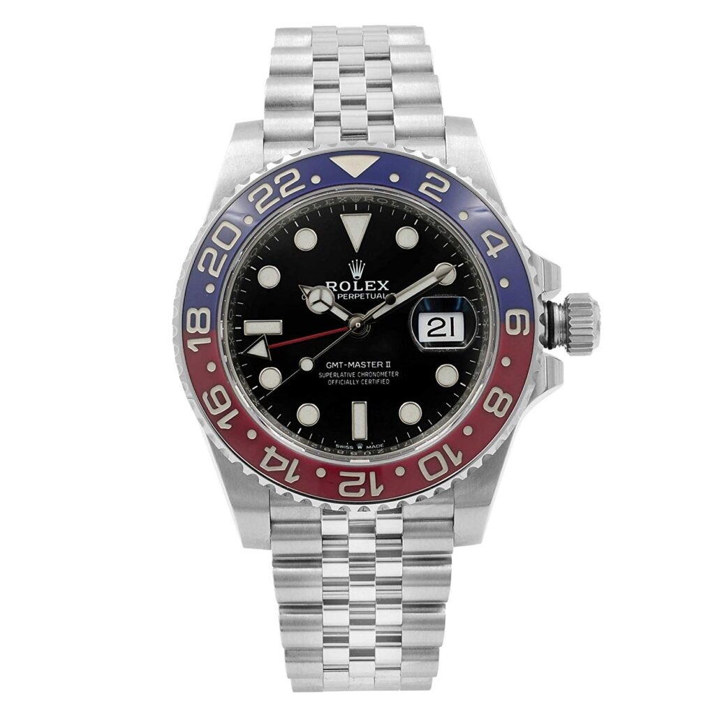 Rolex GMT-Master II, Silver Strap, Date Display, Automatic Watch, Popular Rolex Models
