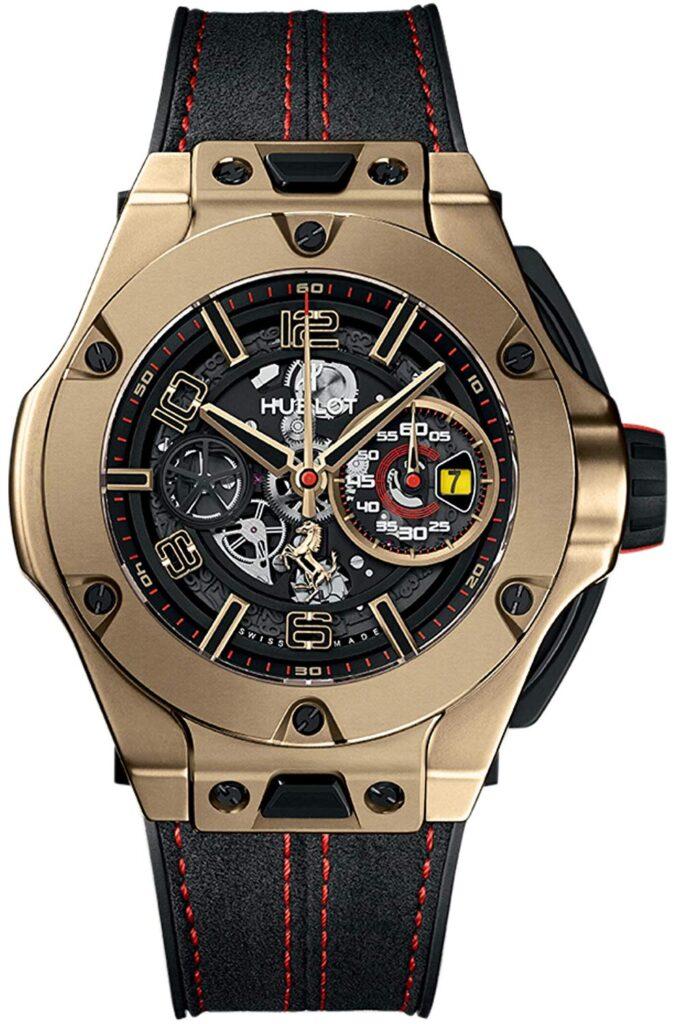 Limited Edition Magic Gold Hublot Big Bang Unico Ferrari 45mm Mens Watch, Watch Brands In-house, Modern Watch, Skeleton Watch