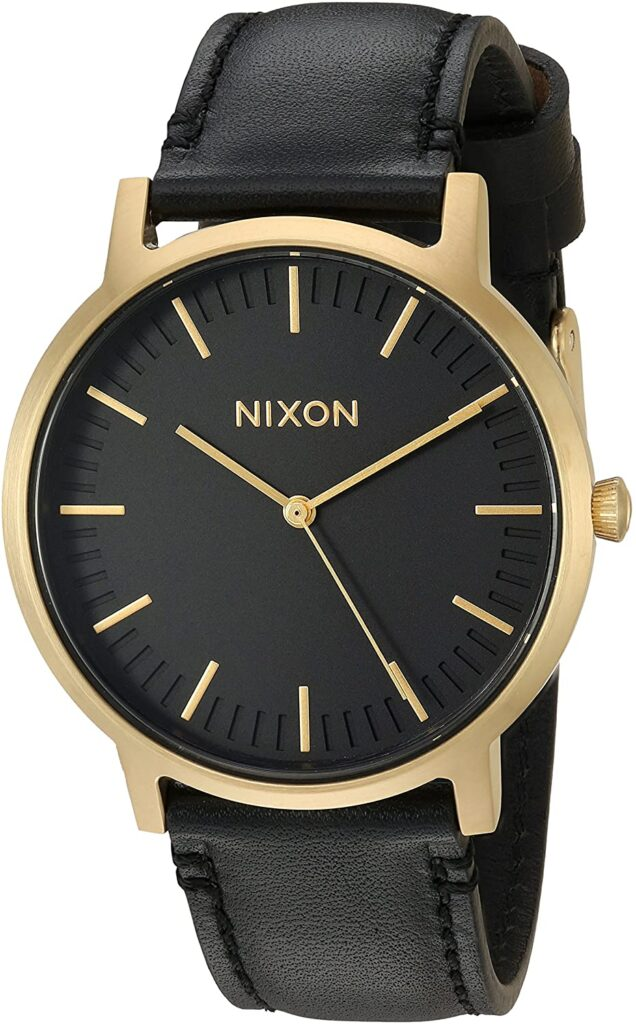 Nixon Porter Leather, Black Watches, Date Display, Automatic Watch, Luxury Watch