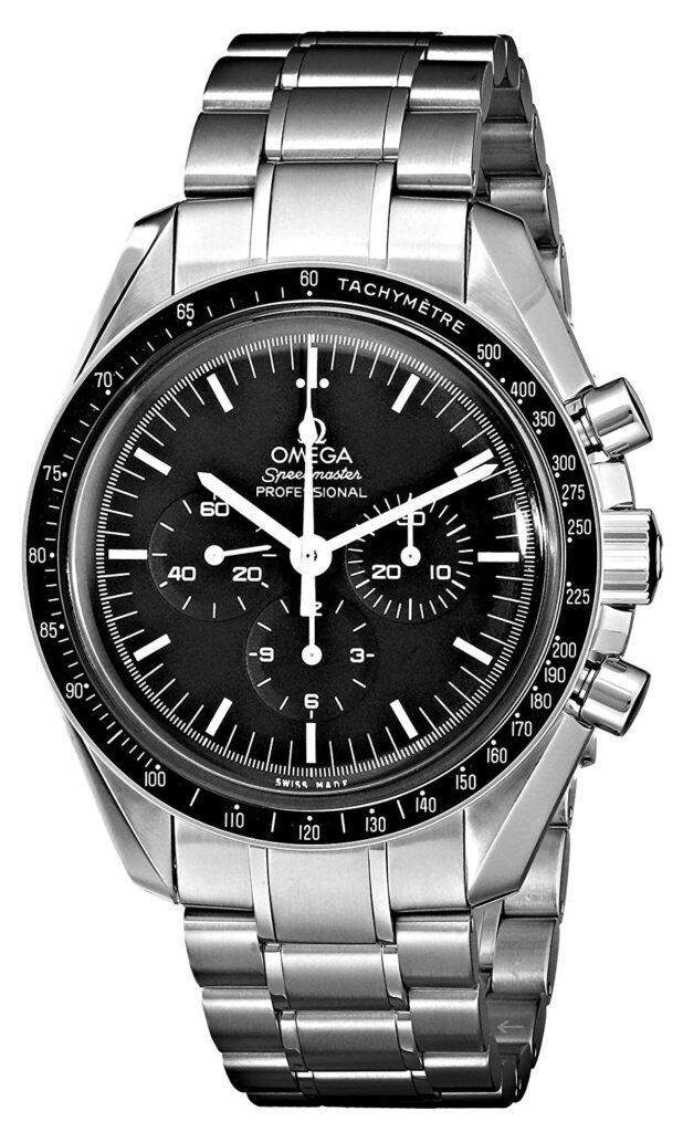 Swiss Watch, Omega Seamaster Watch, Steel Watch, Black Dial