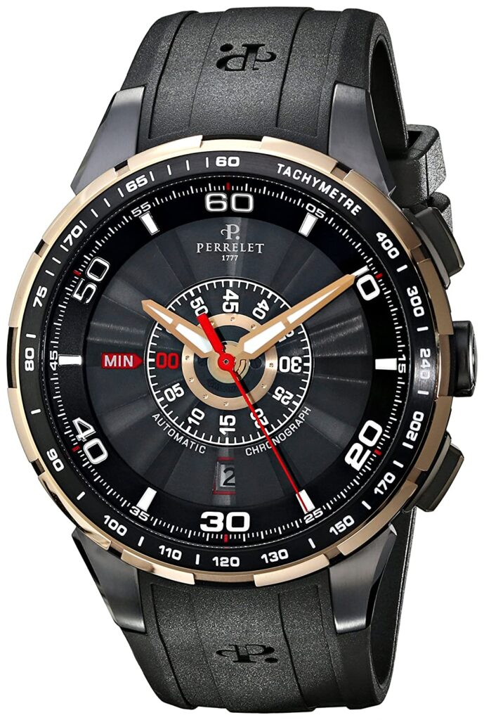 Perrelet Turbine Chrono, Automatic Watch, Black Watches, Chronograph, Luxury Watch, Tachymetre