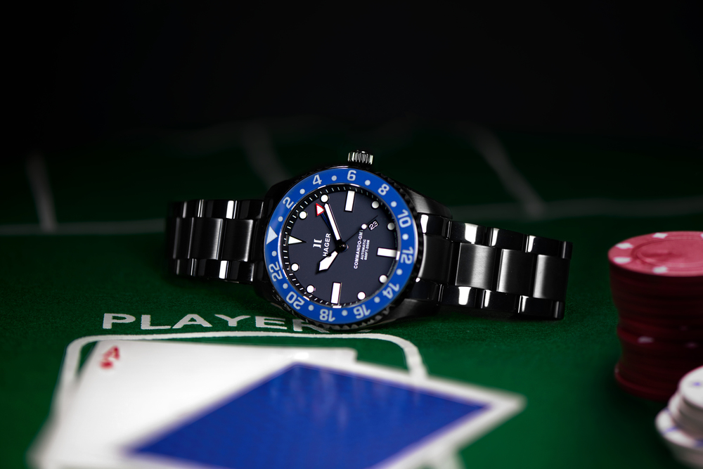GMT Traveler, Fourth of July Watches, Blue Dial, Stainless-steel Watch, Silver Watch