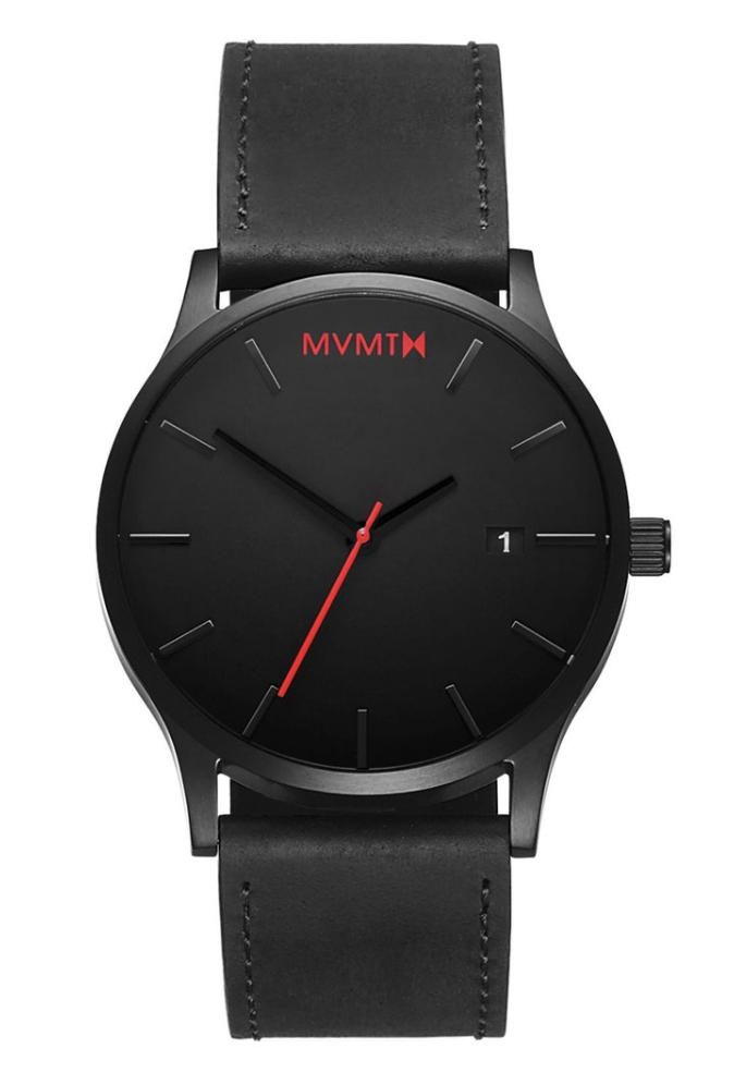 MVMT Classic Black Leather, black watches, MVMT