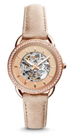 fossil three-hand watch, fossil watch, womens fossil watches