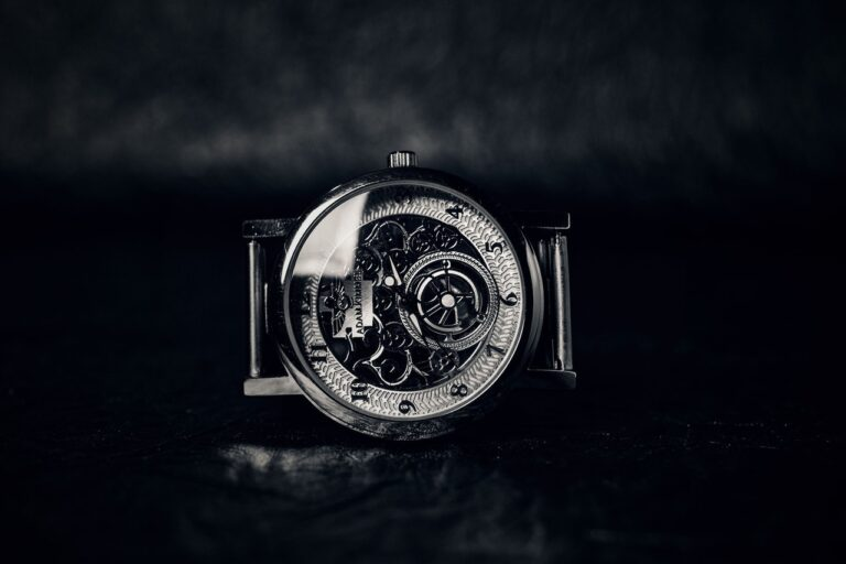 Skeleton Watch, Analogue Watch, Classic Watch, Black and White Watch, Vintage Watch, Antique Watch