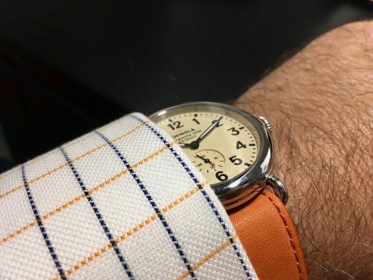 Luxury Watch, Analogue Watch, Wristwatch, Fashionable Watch, Stylish Watch, Orange Watch Strap