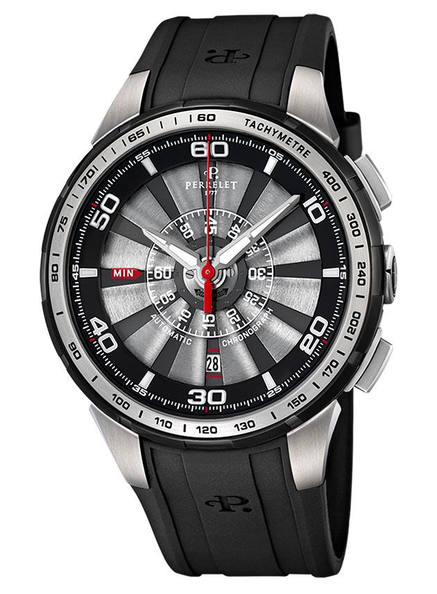 Perrelet Turbine Chrono, black watches