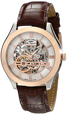 Rotary Men's Analog Display Swiss Automatic, skeleton watches