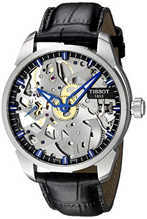 Tissot Men's Squelette Mechanical, skeleton watches, tissot watches