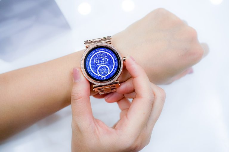 High-tech Watches, Modern Watch, Wristwatch, Digital Watch, Blue Watch Face
