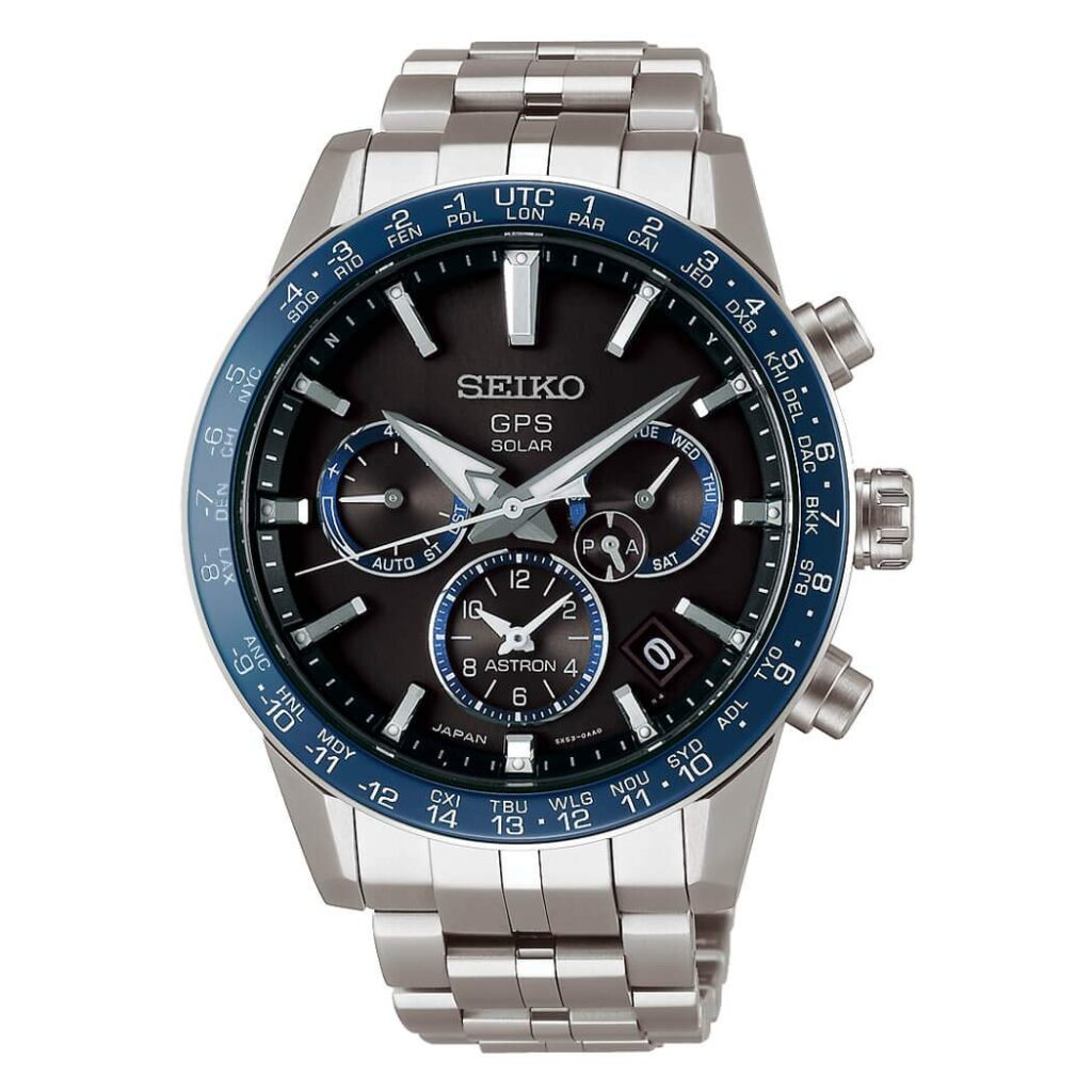 Seiko Astron Solar GPS Chronograph, Blue Watch Dial, Solar Watch, High-tech Watches, Swiss Watch, Japanese Watch