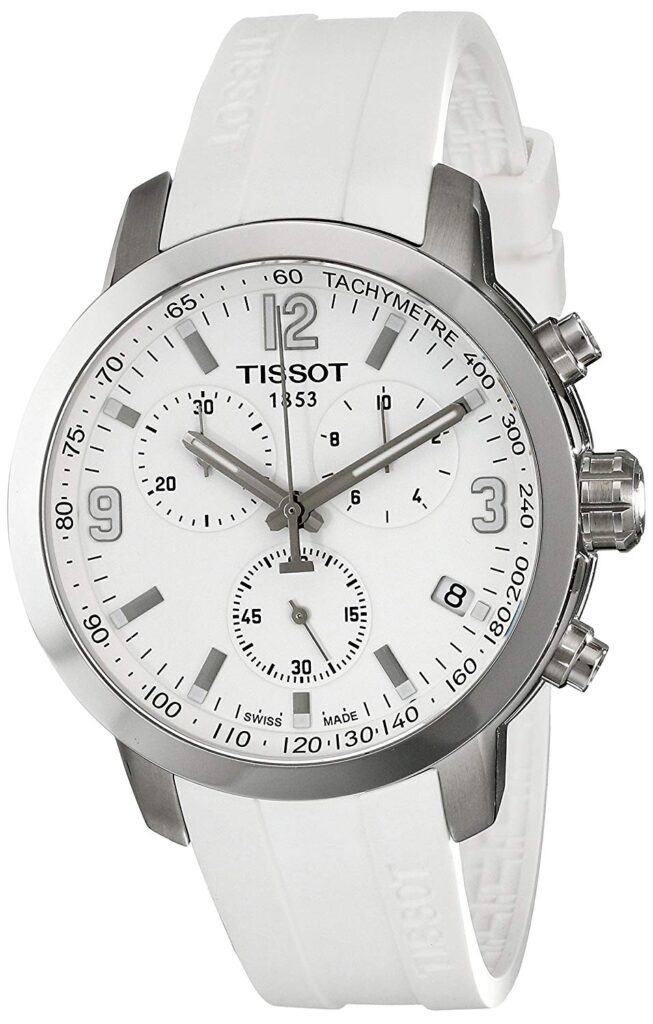 Tissot PRC 200 Chronograph, White Watches, Swiss Watch, Luxury Watch, Tachymetre