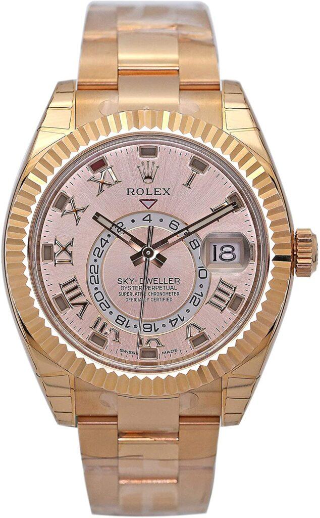 Rolex Sky-Dweller, Drake, Gold, Timekeeping, Swiss Watch, Automatic Watch