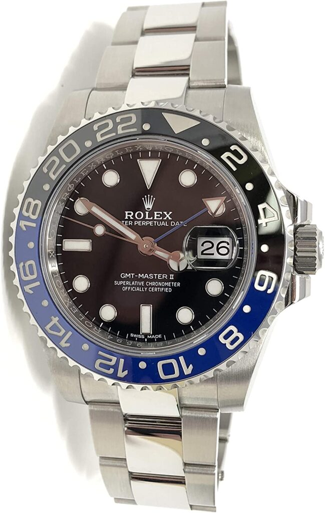 Rolex GMT-Master II, Drake, Blue, Black, Sapphires, Diamonds, Swiss Watch