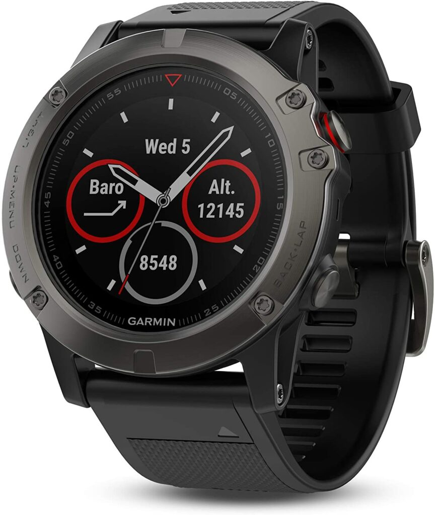 Golf Fashion, Garmin Fenix 5X Plus Golf Watch, Rubber Watch, Modern Watch, Smartwatch, Digital Watch