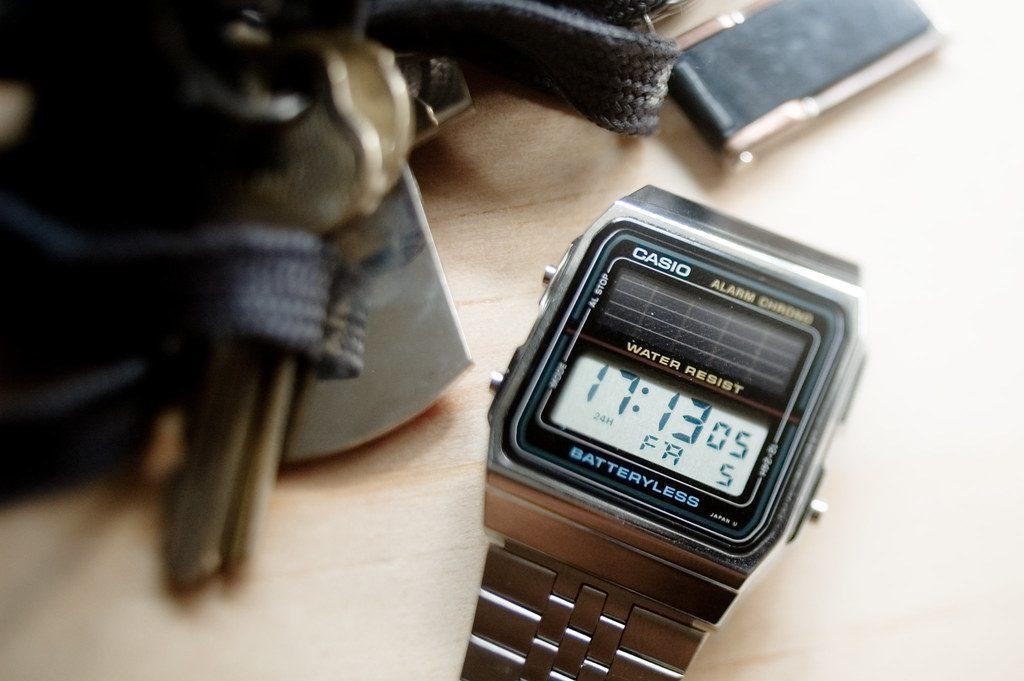 Casio Watch, Solar Watch, Digital Watch, Steel Watch, Batteryless Watch
