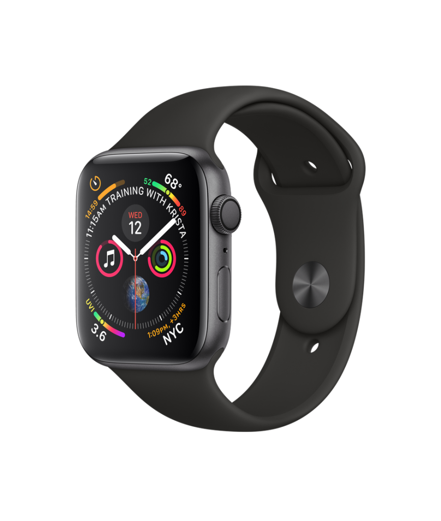 AppleWatch Series4, Fitness Watch, Heart Rate Sensor, ECG, Black Watch, Colourful Watch Apps