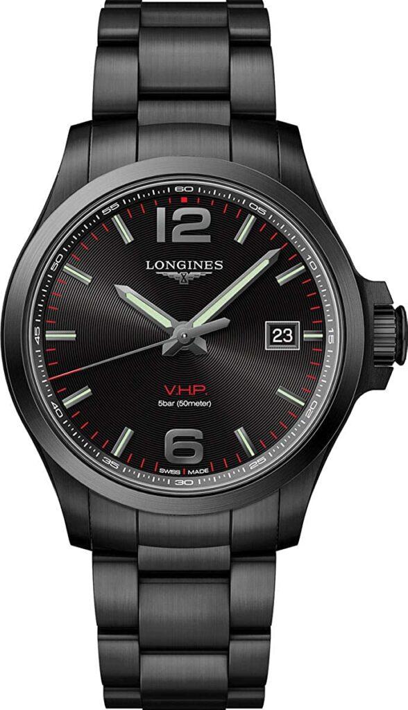 Longines Conquest VHP, Quartz Watches, Solar Watch, Black Watch, Analogue Watch, Modern Watch