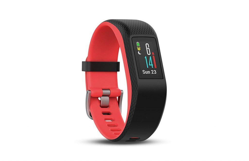 Garmin Vivosport, Fitness Watch, Pulsometer, Red, Black, GPS, Smartwatch