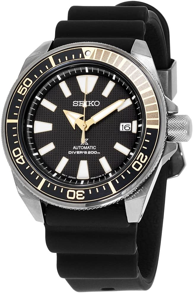 SEIKO Prospex Black Ion, Dive Watch, Black Watch, Automatic Watch, Date Display