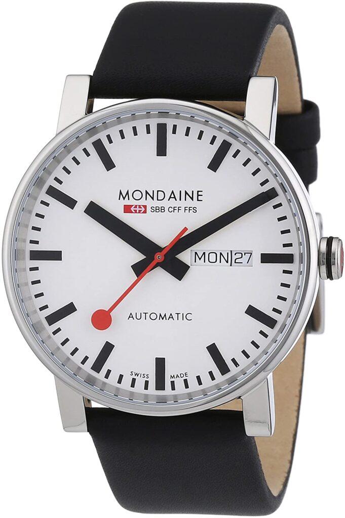 Mondaine Stop2Go, Quartz Watch, Elegant, Swiss, White Watch Face
