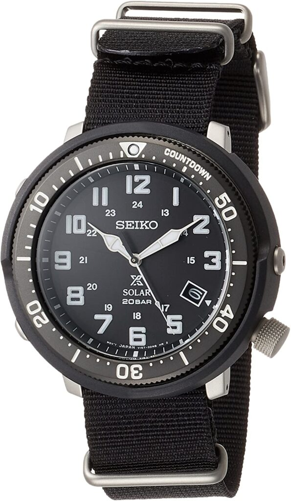 SEIKO Prospex Fieldmaster, Dive Watch, Solar-powered, Grey Watch, Analogue Watch
