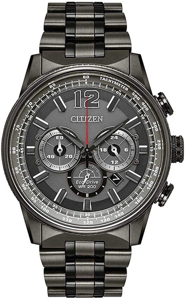 Citizen Nighthawk, Quartz Watch, Water-resistant Watch, Stainless Steel Watch, Silver Watch