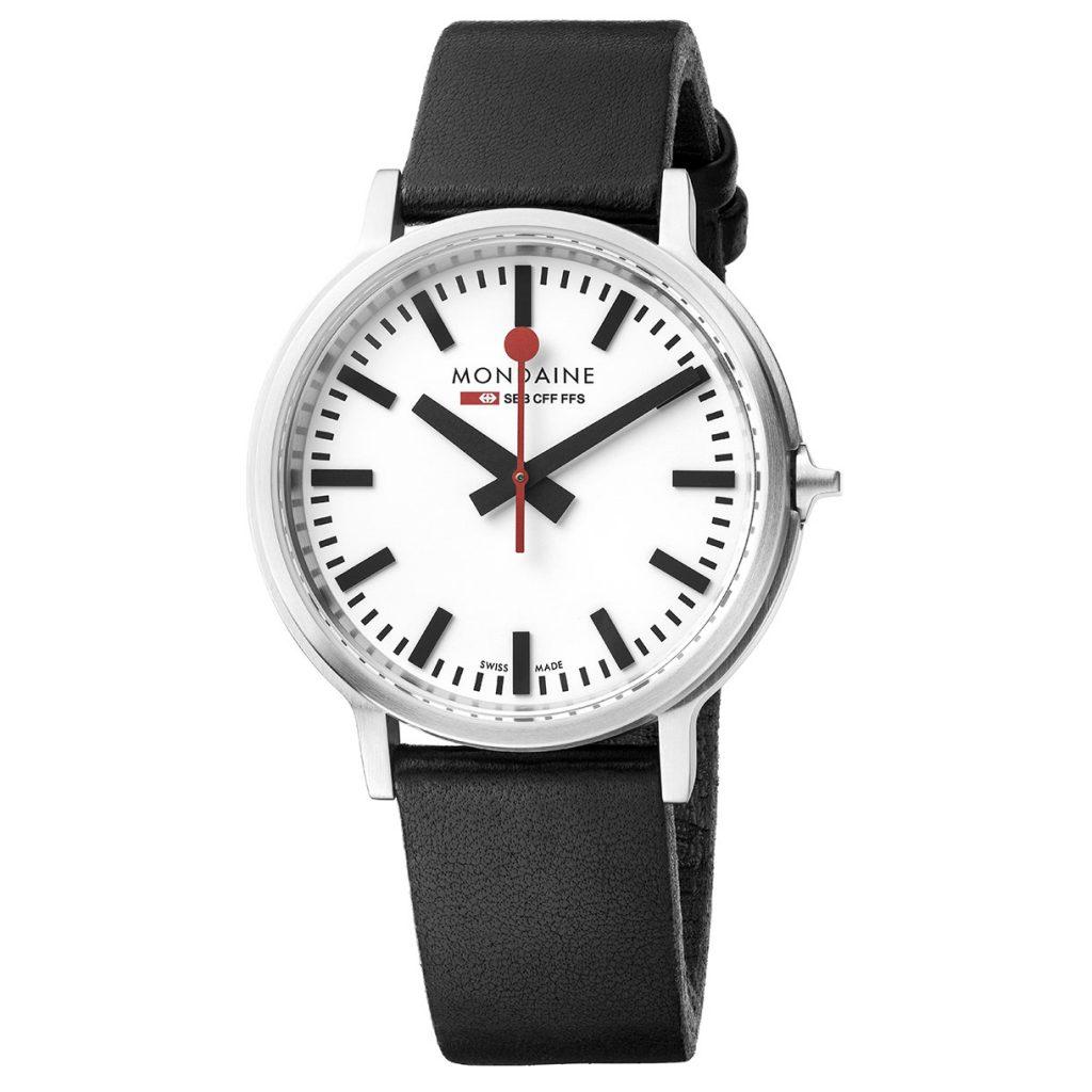 Mondaine Stop2Go, Quartz Watch, Elegant, Swiss, White