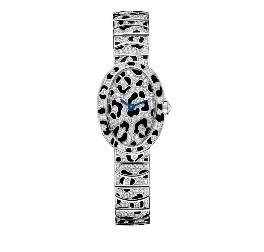 Cartier Mini Baignoire Panthère Spots Watch, Ladies Diamond Watches, Ladies Watch, Luxury Watch, Swiss Watch
