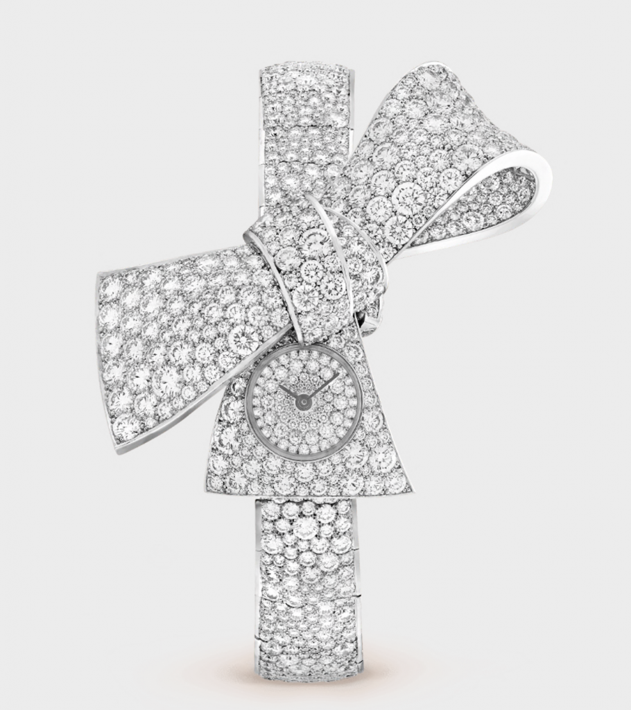 Ladies Diamond Watches, Ladies Watch, Van Cleef & Arpels Ruban Secret Watch, Luxury Watch