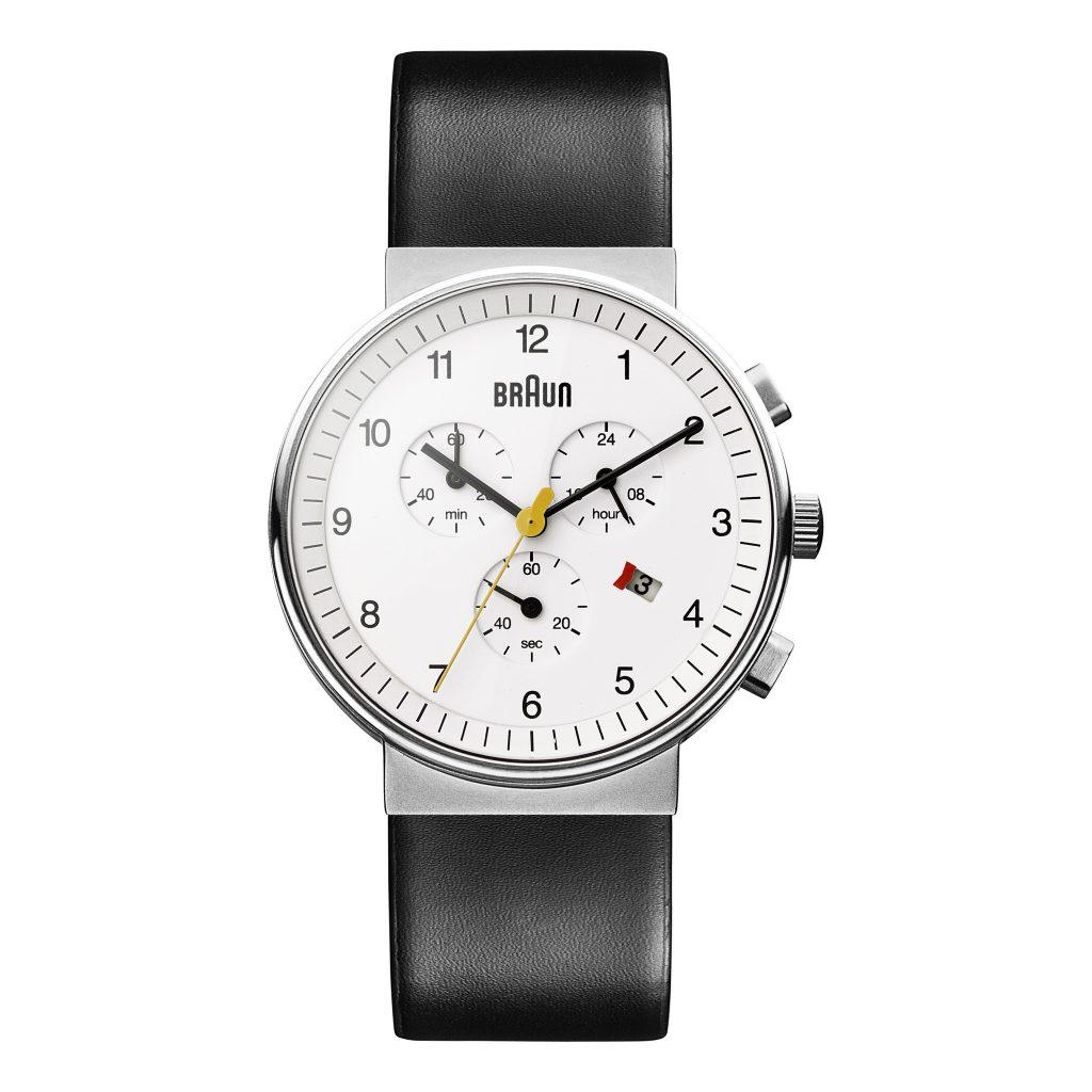 Braun BN0035, Quartz Watch, White, Leather, Steel
