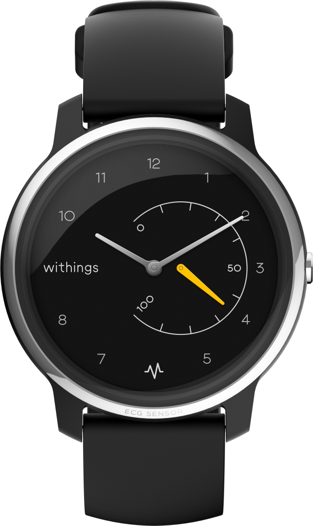 Withings Move, Fitness Watch, Customisable Watch, Analogue Watch, Black Watch