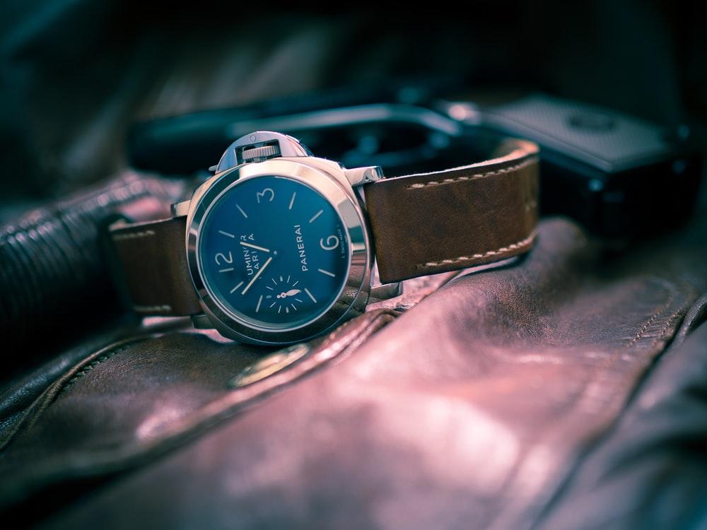 Quartz Watch, Brown Leather Strap, Sleek-looking Watch, Chic Watch, Modern Watch, Analogue Watch
