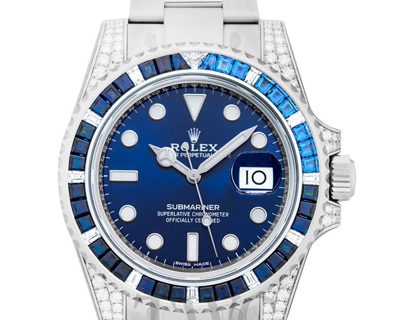 Rolex Submariner, Classic Timepiece, Dive Watch, Water-resistant Watch, Blue Watch Face
