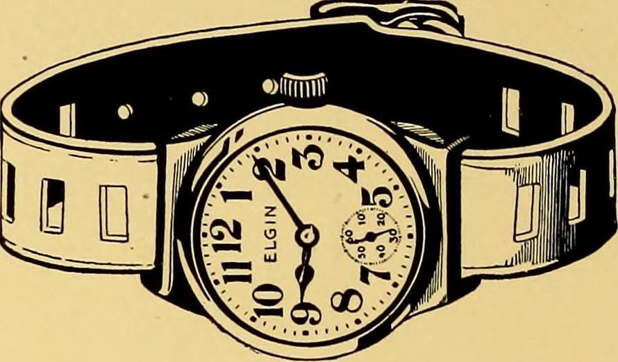 Vintage Elgin military wrist watch