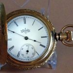 Vintage Elgin Pocket Watch, Hunter Case, 7 Jewels, Pendant Wind & Set, Size 6s, Circa 1895