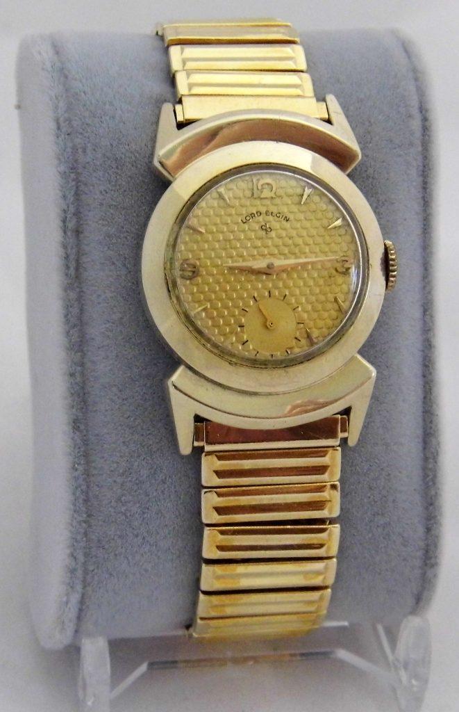 Vintage Lord Elgin Men's Watch, 21 Jewels, 14K Gold Filled Ross Case