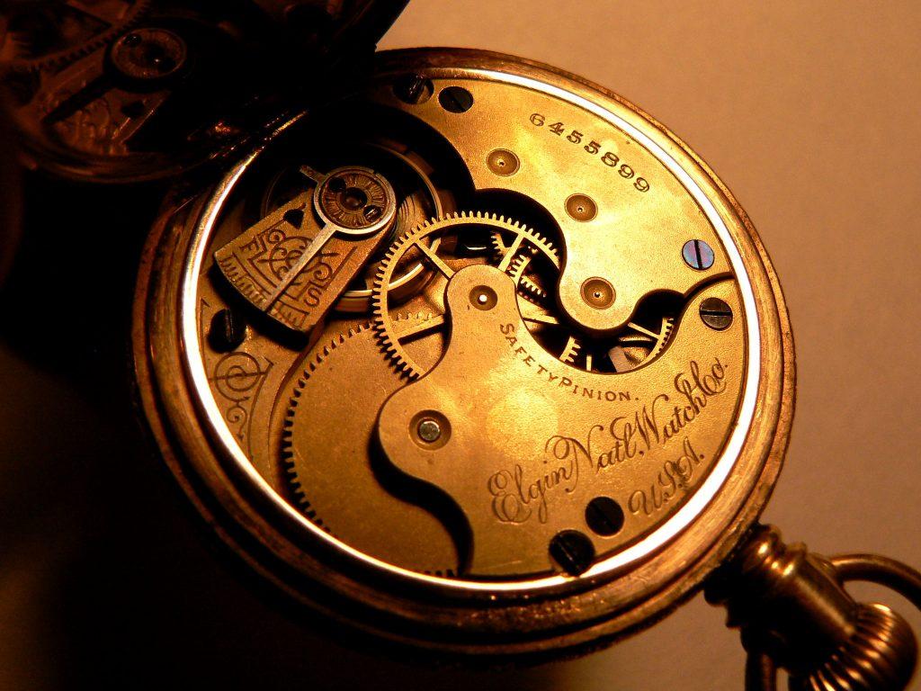 Elgin Pocket Watch inside movement