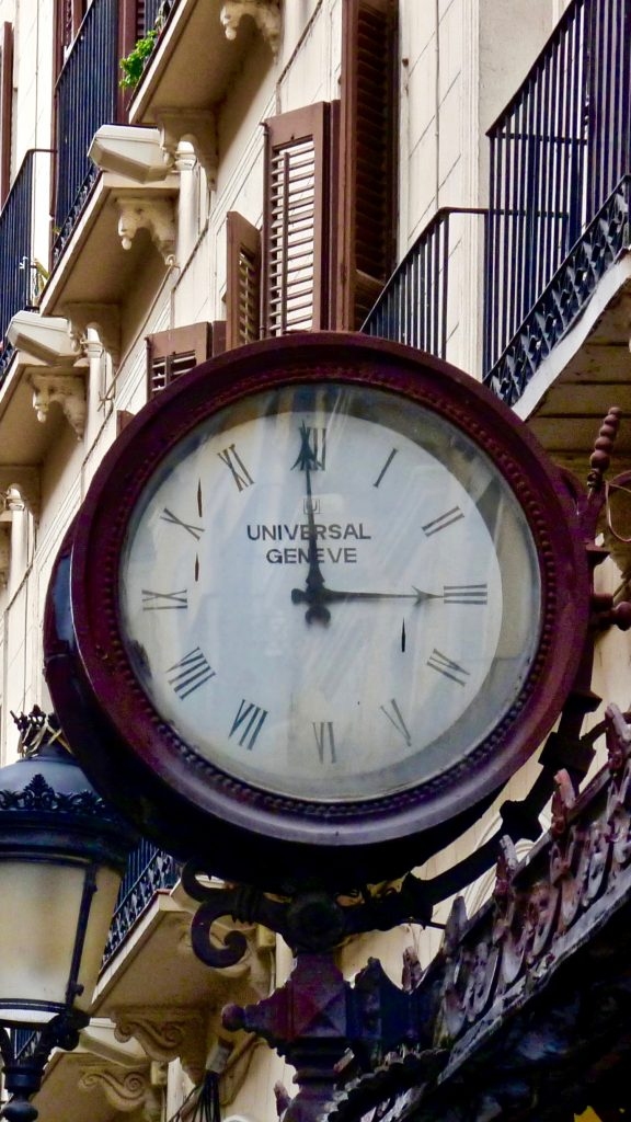 Universal Geneve Clock, Old Sign, Antique Watch, Timeless Design, Vintage Sign