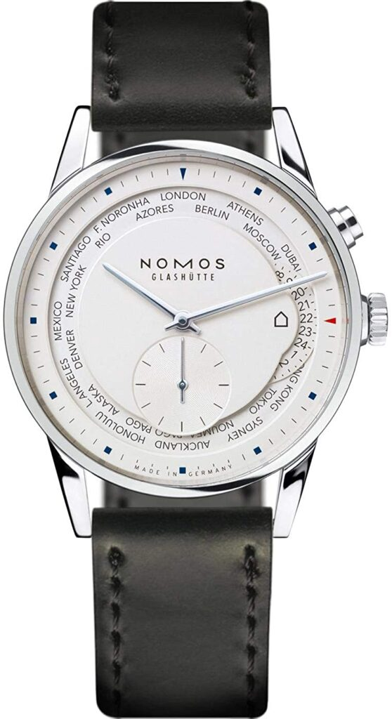Nomos Zurich World Time, Nomos Watch, Reliable Watch, Functional Watch, White Watch, Convenient Watch