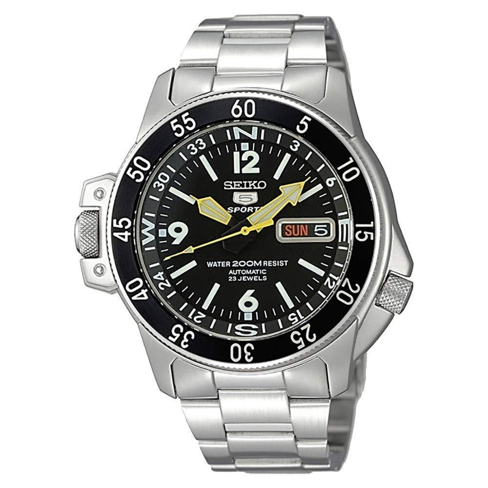 Steel Watch, Automatic Watch, Water-resistant Watch, Seiko 5 Watch, Silver Watch, Seiko 5 Sports Atlas