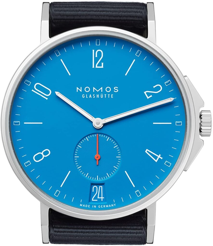 Nomos Ahoi Date Siren Blue, Nomos Watch, Minimalistic Design, Classic Watch, Comfortable Watch