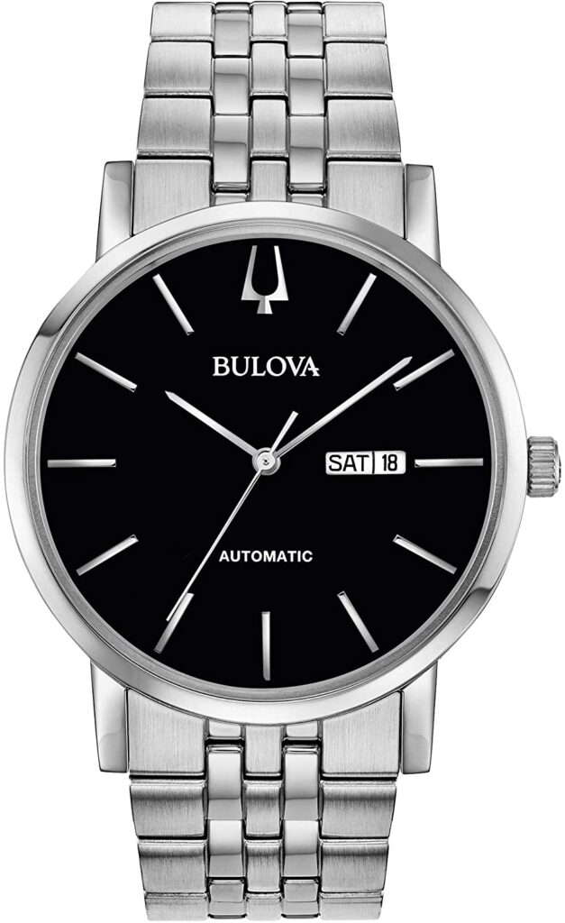 Bulova Dress Watch 96C132, Steel Watch, Automatic Watch, Analogue Watch, Sophisticated Watch
