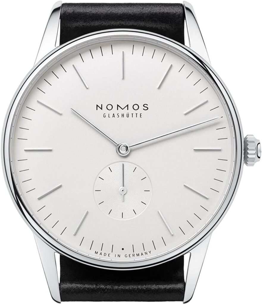 Nomos Orion 38, Nomos Watch, Simple Watch, Elegant Watch, Stainless Steel Watch, White Watch Face