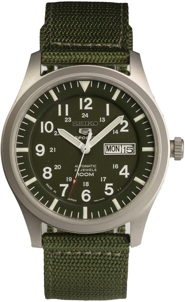 Seiko 5 Sports Day-Date, Automatic Watch, Dive Watch, Green Strap, Analogue Watch