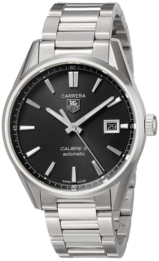 TAG Heuer Carrera Calibre 5, Steel Watch, Scratch-resistant, Silver Watch, Automatic Watch, Swiss Watch