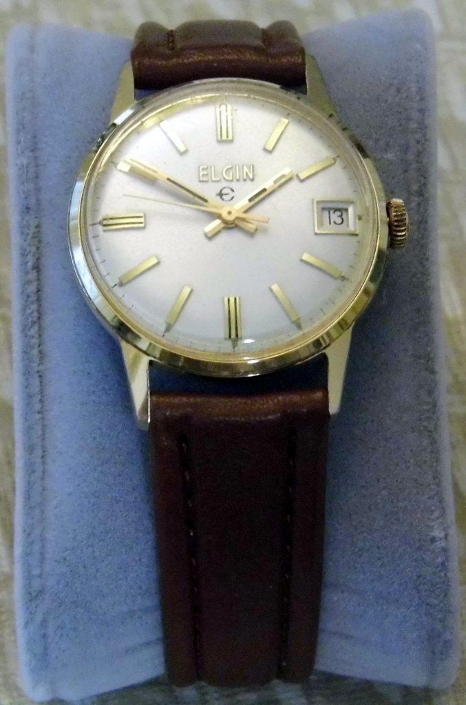 Vintage Elgin Manual-Wind Men's Goldtone Watch, 17 Jewels, Swiss-Made